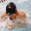 1-9-18<br /> Northwestern vs Eastern swimming<br /> NW's Jacob Myers in the boys 200 yard medley relay.<br /> Kelly Lafferty Gerber | Kokomo Tribune