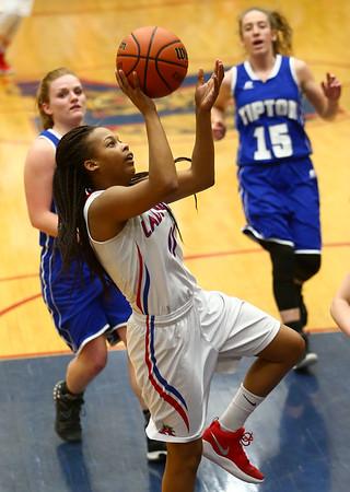 1-25-18<br /> Kokomo vs Tipton girls basketball<br /> Kokomo's Tionna Brown puts up a shot.<br /> Kelly Lafferty Gerber | Kokomo Tribune