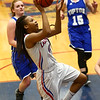 1-25-18<br /> Kokomo vs Tipton girls basketball<br /> Kokomo's Tionna Brown puts up a shot.<br /> Kelly Lafferty Gerber | Kokomo Tribune