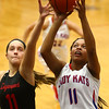 1-16-18<br /> Kokomo vs Logansport girls basketball<br /> Tionna Brown shoots.<br /> Kelly Lafferty Gerber | Kokomo Tribune