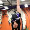 1-20-18<br /> Northwestern-Western gymnastics<br /> NW's Catie Smith on the beam.<br /> Kelly Lafferty Gerber | Kokomo Tribune