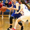 1-25-18<br /> Kokomo vs Tipton girls basketball<br /> Tipton's Lexi Altherr dribbles down the court.<br /> Kelly Lafferty Gerber | Kokomo Tribune