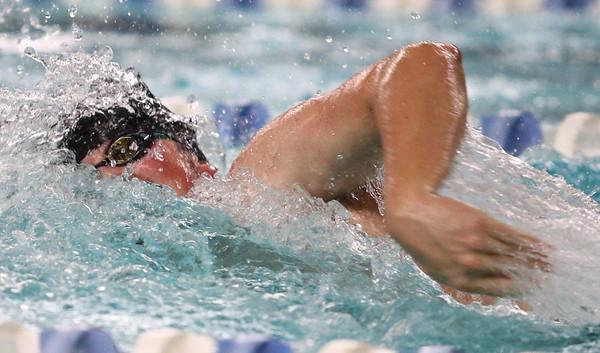 1-11-18<br /> Kokomo swimming<br /> Cortlandt Kalkstein in the boys 200 medley relay.<br /> Kelly Lafferty Gerber   Kokomo Tribune