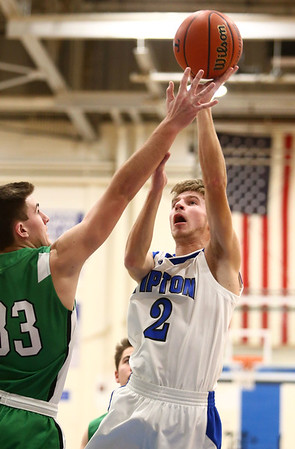 1-5-18<br /> Tipton vs Yorktown boys basketball<br /> Tipton's Alec Weddell puts up a shot.<br /> Kelly Lafferty Gerber | Kokomo Tribune