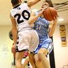 1-19-18<br /> Western vs Maconaquah boys basketball<br /> Mac's Cody Koebler heads to the basket.<br /> Kelly Lafferty Gerber | Kokomo Tribune