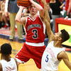 1-16-18<br /> Kokomo vs Logansport boys basketball<br /> Logan's Sam Skaggs puts up a shot.<br /> Kelly Lafferty Gerber | Kokomo Tribune