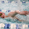1-11-18<br /> Kokomo swimming<br /> Shelby Wells in the girls 50 freestyle.<br /> Kelly Lafferty Gerber | Kokomo Tribune