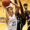 1-26-18<br /> Kokomo vs Lafayette Jeff boys basketball<br /> Anthony Barnard shoots.<br /> Kelly Lafferty Gerber | Kokomo Tribune