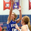 1-25-18<br /> Kokomo vs Tipton girls basketball<br /> Tipton's Lexi Altherr shoots.<br /> Kelly Lafferty Gerber | Kokomo Tribune