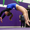 1-20-18<br /> Northwestern-Western gymnastics<br /> Western's Anna Grobengeiser on the floor.<br /> Kelly Lafferty Gerber | Kokomo Tribune