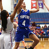 1-25-18<br /> Kokomo vs Tipton girls basketball<br /> Tipton's Cassidy Crawford goes to the basket.<br /> Kelly Lafferty Gerber | Kokomo Tribune