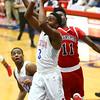 1-16-18<br /> Kokomo vs Logansport boys basketball<br /> Shemar Robinson goes for the basket.<br /> Kelly Lafferty Gerber | Kokomo Tribune