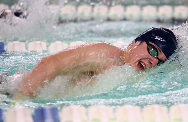 1-11-18<br /> Kokomo swimming<br /> Max White in the boys 200 freestyle.<br /> Kelly Lafferty Gerber | Kokomo Tribune