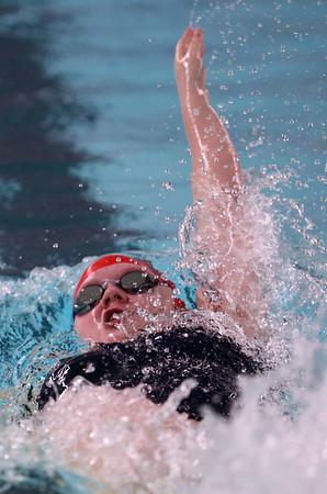 1-11-18<br /> Kokomo swimming<br /> Morgan Reecer in the girls 200 medley relay.<br /> Kelly Lafferty Gerber | Kokomo Tribune
