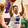 1-2-18<br /> Northwestern vs Eastern girls basketball<br /> NW's Kora Loer shoots.<br /> Kelly Lafferty Gerber | Kokomo Tribune