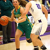 1-2-18<br /> Northwestern vs Eastern girls basketball<br /> Eastern's Alli Hanner looks around NW's defense.<br /> Kelly Lafferty Gerber | Kokomo Tribune
