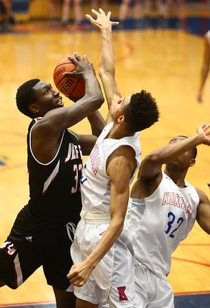 1-26-18<br /> Kokomo vs Lafayette Jeff boys basketball<br /> Lafayette Jeff's Nate Thomas looks to the basket for a shot.<br /> Kelly Lafferty Gerber | Kokomo Tribune
