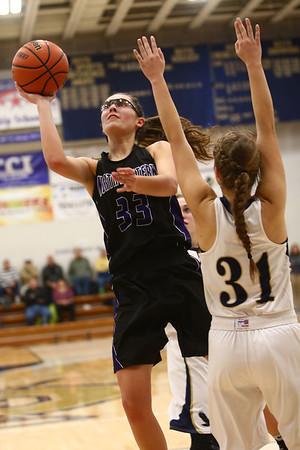 1-10-18<br /> Northwestern vs Oak Hill girls basketball<br /> Madison Layden shoots.<br /> Kelly Lafferty Gerber | Kokomo Tribune