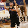 1-10-18<br /> Northwestern vs Oak Hill girls basketball<br /> Madison Layden shoots.<br /> Kelly Lafferty Gerber | Kokomo Tribune