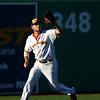 7-24-18<br /> Jackrabbits vs Aviators<br /> Left fielder Zac Wilson makes the catch for an out.<br /> Kelly Lafferty Gerber | Kokomo Tribune
