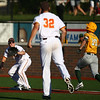 7-6-18<br /> Jackrabbits vs WV Miners<br /> Pitcher Mike Pachmayer throws to first baseman Ian Walters for the out.<br /> Kelly Lafferty Gerber | Kokomo Tribune