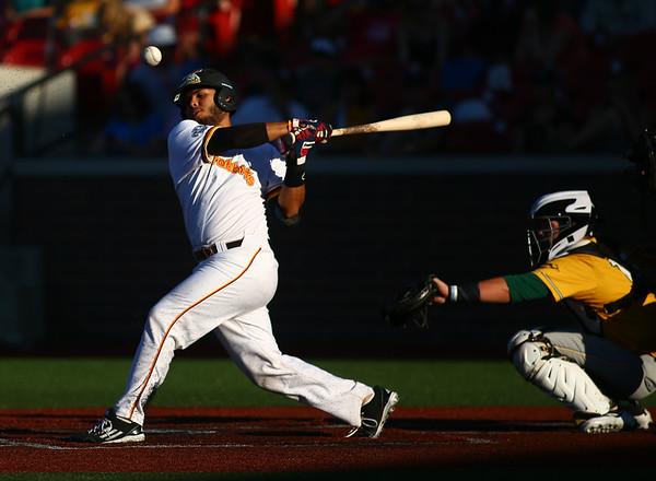 7-6-18<br /> Jackrabbits vs WV Miners<br /> Brian Fuentes bats.<br /> Kelly Lafferty Gerber | Kokomo Tribune