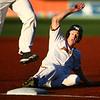 7-24-18<br /> Jackrabbits vs Aviators<br /> Ian Walters slides to third before an umpire error forced him to go back to second.<br /> Kelly Lafferty Gerber | Kokomo Tribune