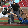 7-14-18<br /> Jackrabbits vs Rex<br /> Rex 23 is safe at home before Colin Butkiewicz can apply the tag.<br /> Kelly Lafferty Gerber | Kokomo Tribune