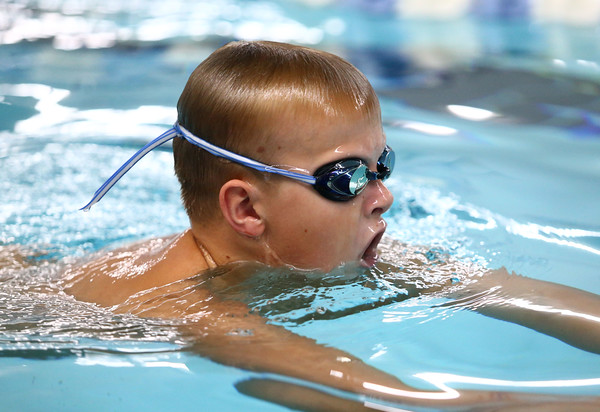 Charlie Brewer, 10, practices with Howard County Aquatics on Thursday, July 19, 2018.<br /> Kelly Lafferty Gerber | Kokomo Tribune