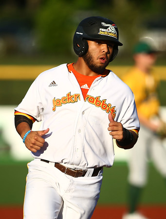 7-6-18<br /> Jackrabbits vs WV Miners<br /> Brian Fuentes heads to third.<br /> Kelly Lafferty Gerber | Kokomo Tribune