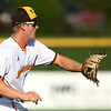 8-1-18<br /> Jackrabbits vs Gems<br /> Ian Walters grabs the ball and throws to first for an out.<br /> Kelly Lafferty Gerber | Kokomo Tribune
