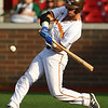 6-20-18<br /> Jackrabbits vs Dans<br /> Jake Hansen bats.<br /> Kelly Lafferty Gerber | Kokomo Tribune