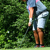 Sectional Golf at Rock Hollow in Peru on June 4, 2018.<br /> Western's Parker Chambers chipping onto the green with the ball rolling into the hole for a 3 on the first hole.<br /> Tim Bath | Kokomo Tribune