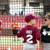 Rylan Huey, 6, left, and Camden Woods, 6, chat behind the net as fellow Jackrabbits kids baseball camp participants work on batting on Wednesday, June 27, 2018.<br /> Kelly Lafferty Gerber | Kokomo Tribune