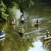 Canoers and kayakers make their way downstream on the Wildcat Creek during the Haynes Apperson Sports Festival on Saturday, June 30, 2018.<br /> Kelly Lafferty Gerber | Kokomo Tribune