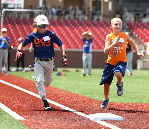 Jackrabbits kids baseball camp on Wednesday, June 27, 2018.<br /> Kelly Lafferty Gerber   Kokomo Tribune
