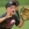 The Rookie League Championship held at UCT Park between Russiaville's Reser Hereford's and Southside's Children's Christian Academy on June 8, 2018. Pitcher Spencer Crow yells to disrupt the batter in the final inning of the game.<br /> Tim Bath | Kokomo Tribune