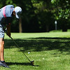 Sectional Golf at Rock Hollow in Peru on June 4, 2018.<br /> Western's Kyle Sanders hitting on the 5th but landing just to the left of the green.<br /> Tim Bath | Kokomo Tribune