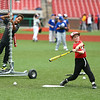 Jackson Darland, 8, works on his batting skills during the Jackrabbits kids baseball camp on Wednesday, June 27, 2018.<br /> Kelly Lafferty Gerber | Kokomo Tribune
