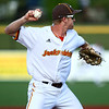 6-20-18<br /> Jackrabbits vs Dans<br /> Ian Walters throws to first for an out.<br /> Kelly Lafferty Gerber | Kokomo Tribune