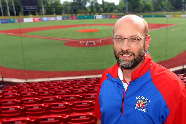 Jason Snyder at Kokomo Municipal Stadium on June 8, 2018. Jason is the outgoing athletic director for Kokomo Schools.<br /> Tim Bath | Kokomo Tribune