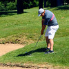 Sectional Golf at Rock Hollow in Peru on June 4, 2018.<br /> Western's Levi Purtee hitting out of a difficult spot on the 2nd hole.<br /> Tim Bath | Kokomo Tribune