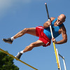70-year-old John Large competes in the pole vault during the Haynes Apperson Sports Festival on Saturday, June 30, 2018.<br /> Kelly Lafferty Gerber | Kokomo Tribune