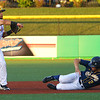 The Kokomo Jackrabbits opening game against the Lafayette Aviators on June 4, 2018. A hit to the center fielder was tossed to Amir Wright who turned the double play in the 6th inning.<br /> Tim Bath | Kokomo Tribune