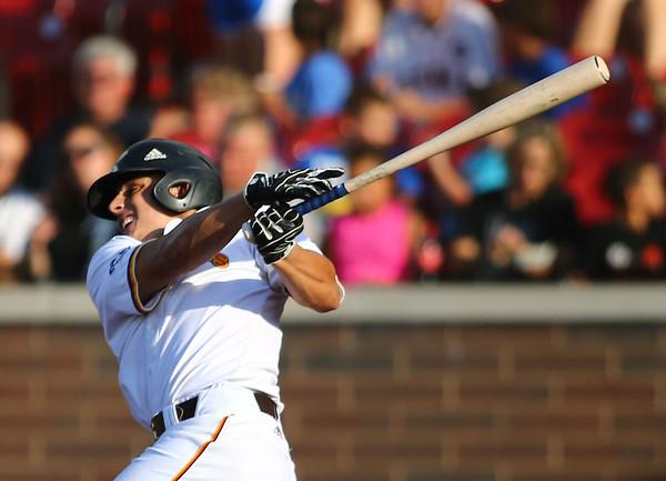 6-27-18<br /> Jackrabbits vs Aviators<br /> John Sechen bats.<br /> Kelly Lafferty Gerber | Kokomo Tribune
