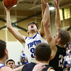 3-10-18<br /> Tipton vs Covington boys basketball regional semi-final<br /> Trent Seward puts up a shot.<br /> Kelly Lafferty Gerber | Kokomo Tribune