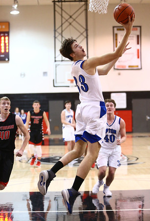 3-3-18<br /> Tipton vs Eastbrook sectional<br /> Trent Seward puts up a shot.<br /> Kelly Lafferty Gerber | Kokomo Tribune