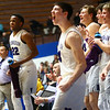 3-2-18<br /> Western vs Northwestern boys basketball<br /> Northwestern cheers after one of their teammates makes a basket in the final minutes of the game.<br /> Kelly Lafferty Gerber | Kokomo Tribune