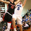 3-3-18<br /> Tipton vs Eastbrook sectional<br /> Tipton's Grant Shively and Eastbrook's Ryan Mansbarger go after a rebound.<br /> Kelly Lafferty Gerber | Kokomo Tribune