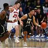 3-2-18<br /> Peru vs West Lafayette boys basketball<br /> Peru's Daunte Majors shoots.<br /> Kelly Lafferty Gerber | Kokomo Tribune